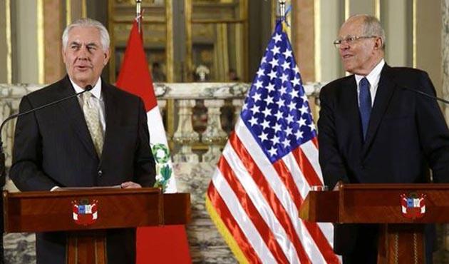 ABD Dışişleri Bakanı Tillerson Kolombiya'da