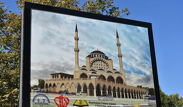 Makedonya'nın en büyük camisinin açılışı 2020'de