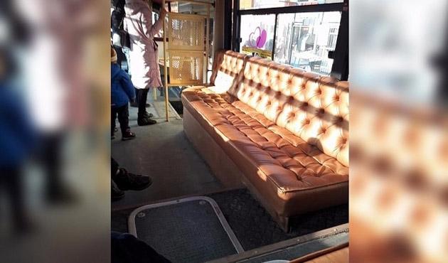Kazakistan'da kanepeli halk otobüsü hizmete girdi