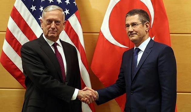 Milli Savunma Bakanı Canikli ile ABD'li Bakan Mattis bir araya geldi
