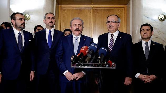 AK Parti İttifak Komisyonu'ndan Erdoğan'a sunum