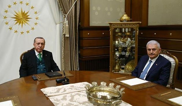 Cumhurbaşkanı Erdoğan, Yıldırım, Fidan ve Akar ile ayrı ayrı görüştü