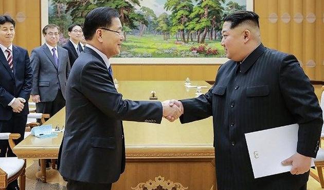 Kim Jong-un'dan Güney Kore'ye zeytin dalı