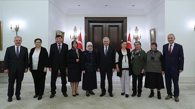 Başbakan Yıldırım girişimci kadınları kabul etti