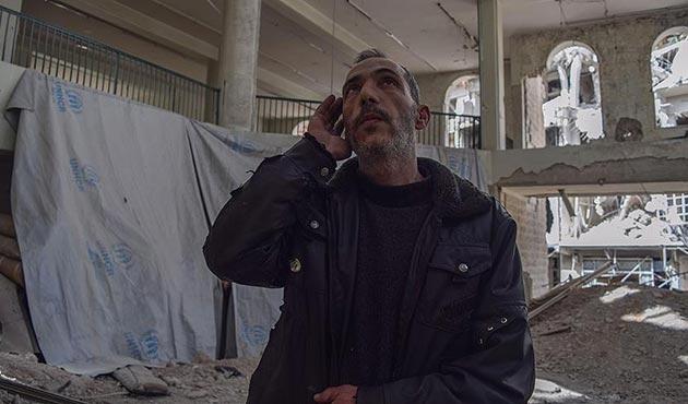 Doğu Guta'da rejimin yıktığı camide ezanlar susmuyor