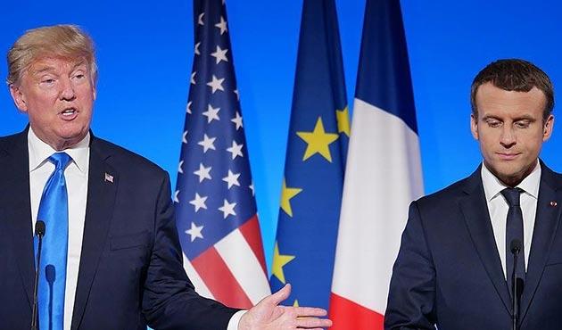 Macron ile Trump üç konuda görüştü
