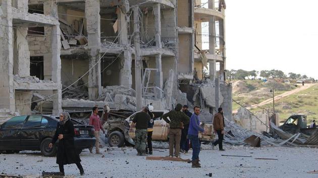 İdlib'deki hava saldırısında ölenlerin sayısı 42'ye yükseldi