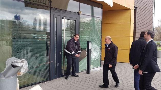 PKK yandaşlarından Avrupa Konseyi binasına saldırı