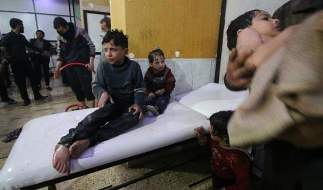 Suriye Türkmenlerinden Esed'in Doğu Guta'daki kimyasal saldırısına tepki