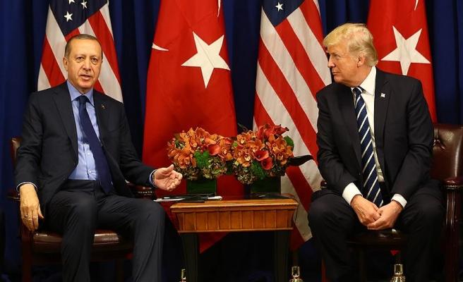 Cumhurbaşkanı Erdoğan, Trump'la Suriye'yi görüştü