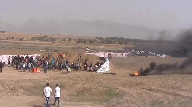 Gazze'de 'Bayrak Cuması' bilançosu: 112 yaralı