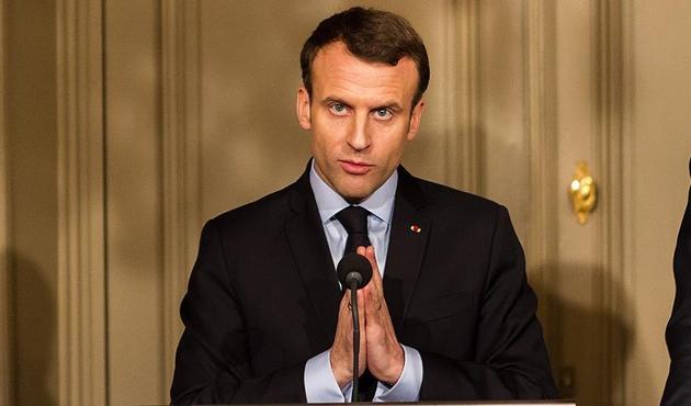 Macron, ABD ve Suriye ile ilgili sözlerinden çark etti!