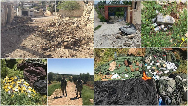 Afrin'de PYD'ye ait yeni mühimmat deposu bulundu