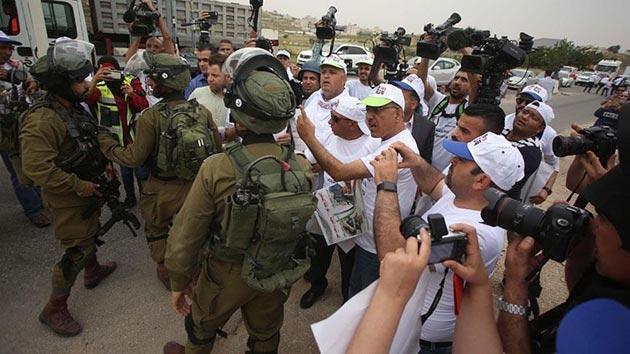 İsrail'in gazetecilere yönelik ihlallerine protesto