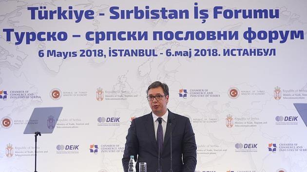 Vucic'ten Türk iş adamlarına davet