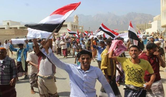 Yemen'in Sokotra Adası'nda BAE karşıtı gösteri