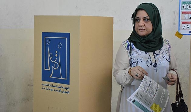 Irak'ta genel seçimler için oy verme işlemi sona erdi | GRAFİK