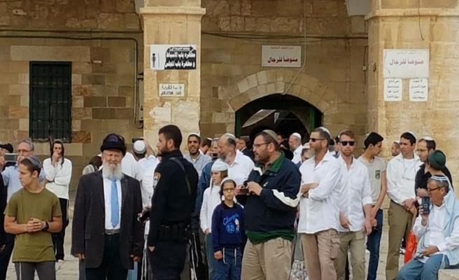 Aksa muhafızları ve Fanatik Yahudiler arasında arbede   VİDEO