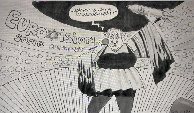 Netanyahu karikatürüne tahammül edilemedi