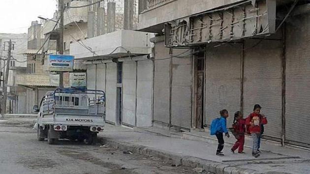Menbiç'te esnaf YPG/PKK'ya karşı kepenk indirdi