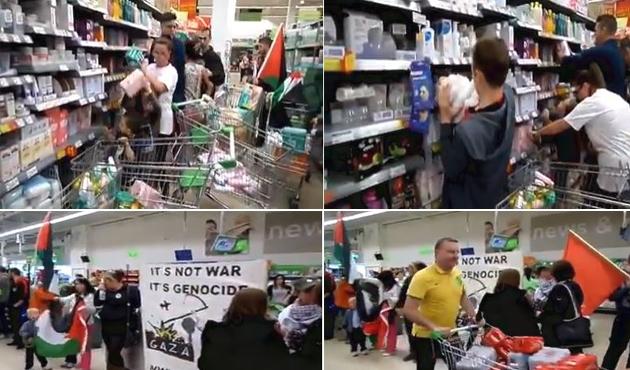 İrlanda'da İsrail'e yönelik ibretlik protesto   VİDEO