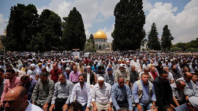 Mescid-i Aksa'da Ramazan'ın üçüncü cuması | FOTO