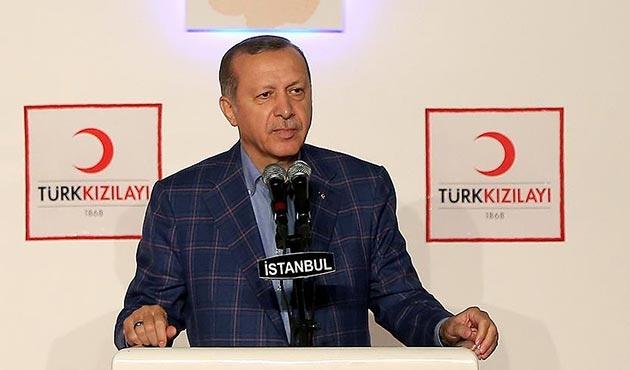 Erdoğan'dan Kızılay'ın kuruluş yıl dönümü için kutlama mesajı