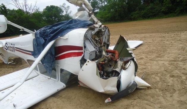ABD'de büyükannenin sürdüğü uçak düştü