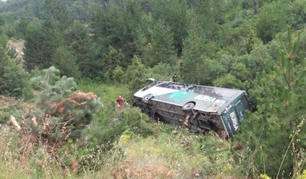 Bursa'da otobüs kazası: 2 ölü