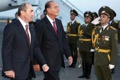 Jacques Chirac Ermenistan'da