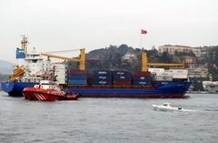 Boğaz'da gemiler çarpıştı