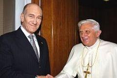 Olmert Papa ile görüştü
