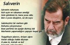 Saddam'dan şiirli veda