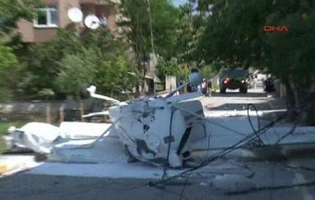 İstanbul'da askeri eğitim uçağı düştü-VİDEO