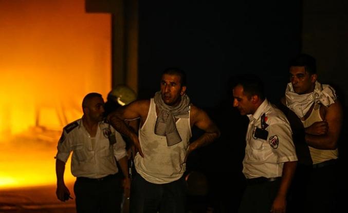Bakırköy'deki CNR Fuar Merkezi'nde yangın