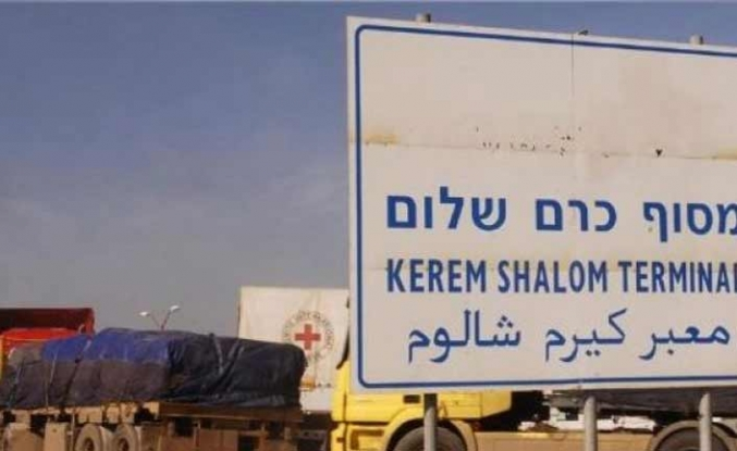 Gazze'nin tek ticari kapısına ilaç izni