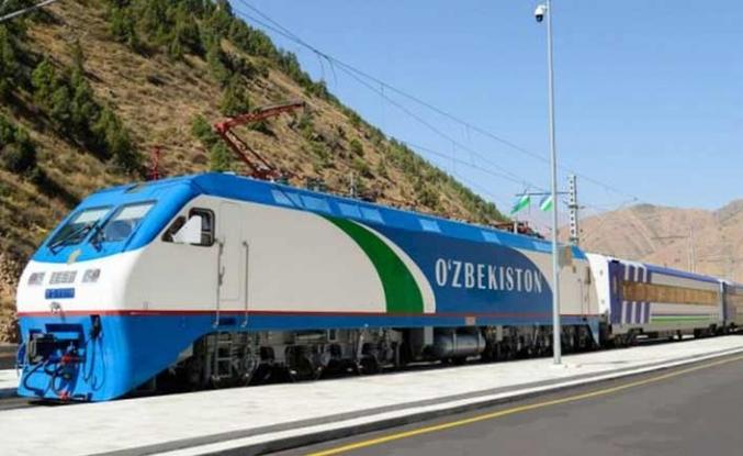 Özbekistan'dan Çin'e demiryolları ağı artıyor