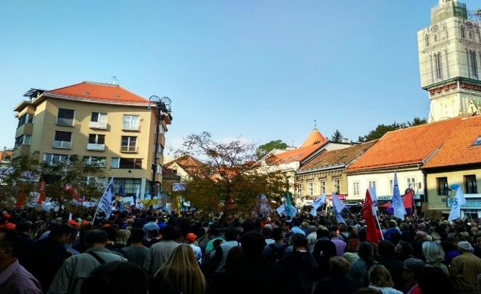 Hırvatistan'da emeklilik protestosu