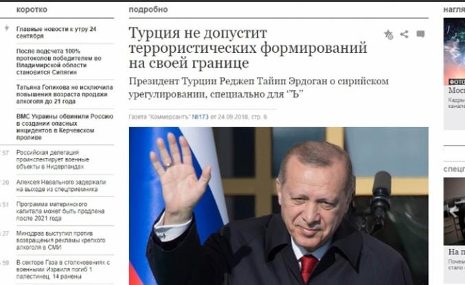 Erdoğan Rus Kommersant gazetesinden seslendi:  ABD, kuzuyu kurda emanet etti