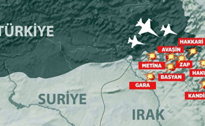 Irak'ın kuzeyine hava harekatı
