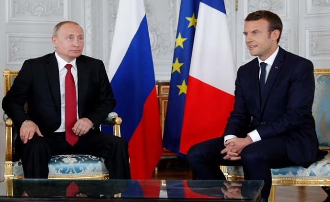 Putin ve Macron'un masasında İran ve Suriye var