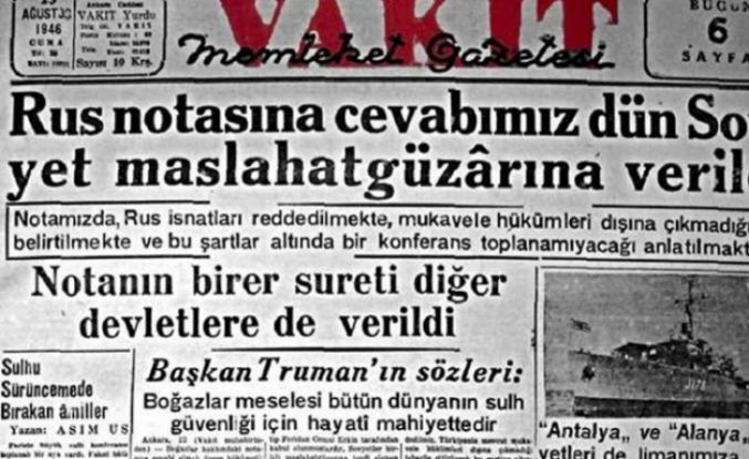 Tarihte bugün (7 Ağustos): SSCB Türkiye'ye Boğazlar konusunda nota verdi