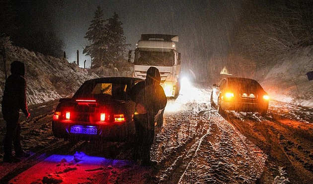 Kütahya'da kar yağışı etkili oluyor | FOTO