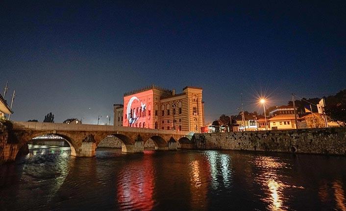 'Saraybosna'nın hafızası' 15 Temmuz'da Türk bayrağına büründü