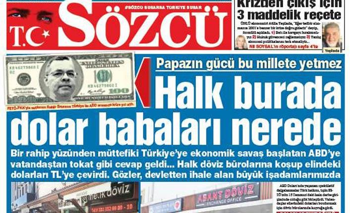 """Sözcü Gazetesi bile """"Önce Vatan"""" dedi"""
