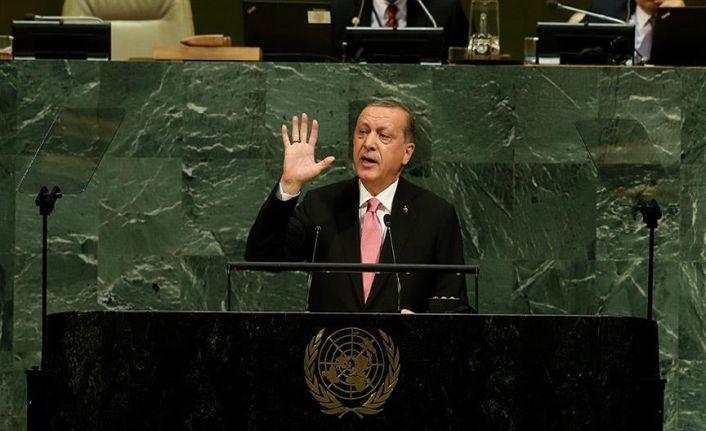 Cumhurbaşkanı Erdoğan BM Genel Kuruluna hitap etti