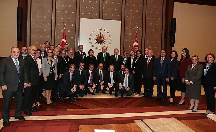 Erdoğan ABD'li şirketlerin temsilcileriyle buluştu