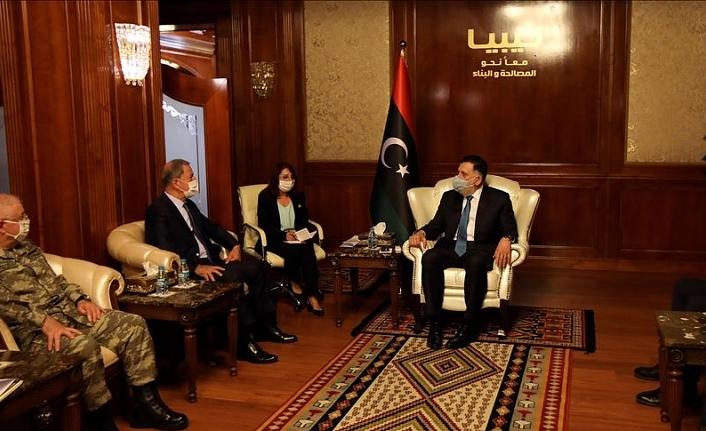 Bakan Akar ve Orgeneral Güler, Libya Başbakanı Serrac ile görüştü