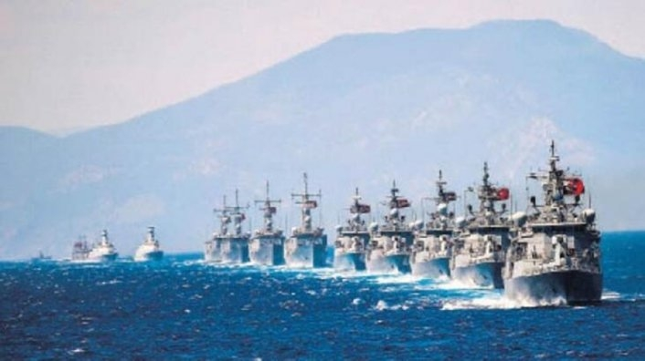 170 savaş gemisi Mavi Vatan'da boy gösterecek
