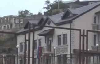 Geri alınan Talış köyünde yeniden Azerbaycan bayrağı dalgalanıyor